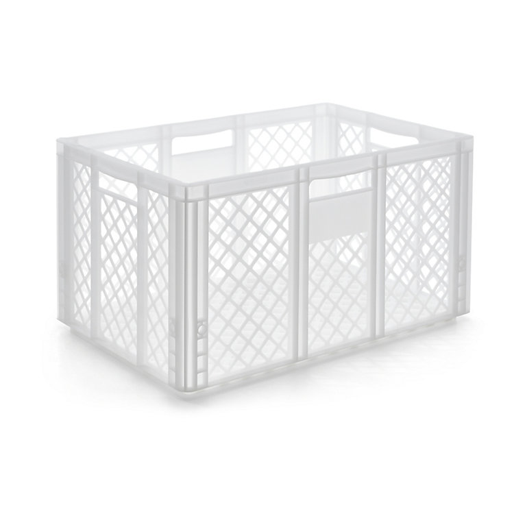 Container STOWAGE CRATE Large Traffic White RAL 9016