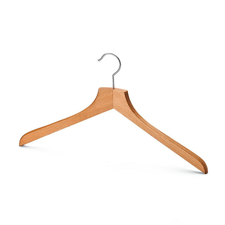 Contoured Coat Hanger for Men Without Pants Bar