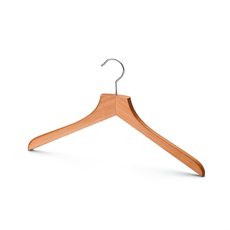 Contoured Coat Hanger for Women Without Pants Bar