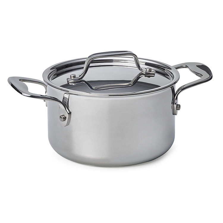Cooking Pot Made of Stainless Steel Volume 1.9 l