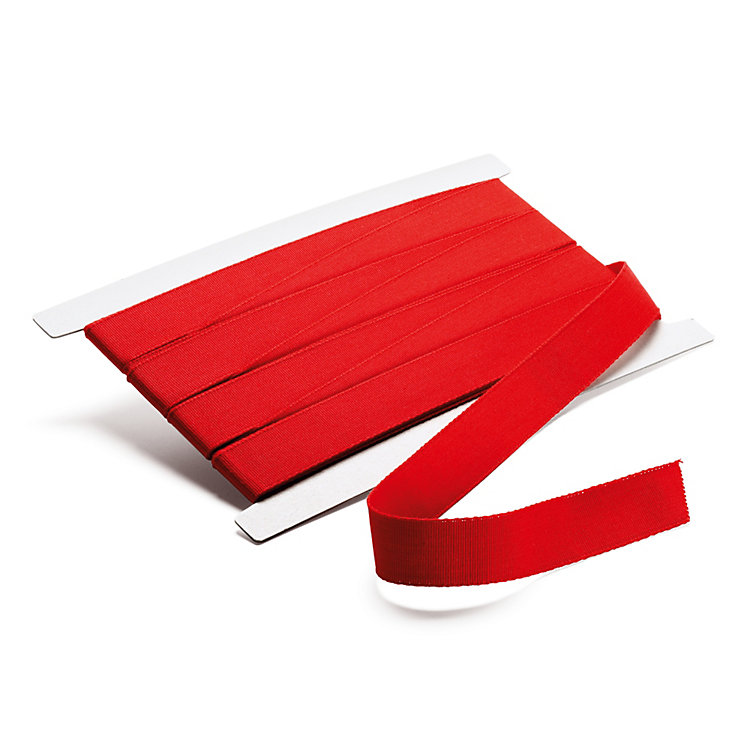 Corded Ribbon Width 25 mm, length 10 m Red