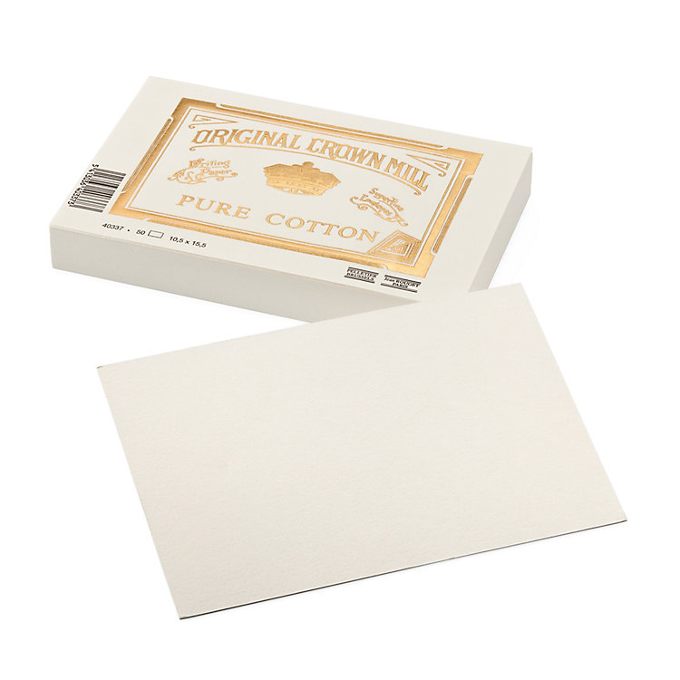 Correspondence Card Crown Mill Cotton