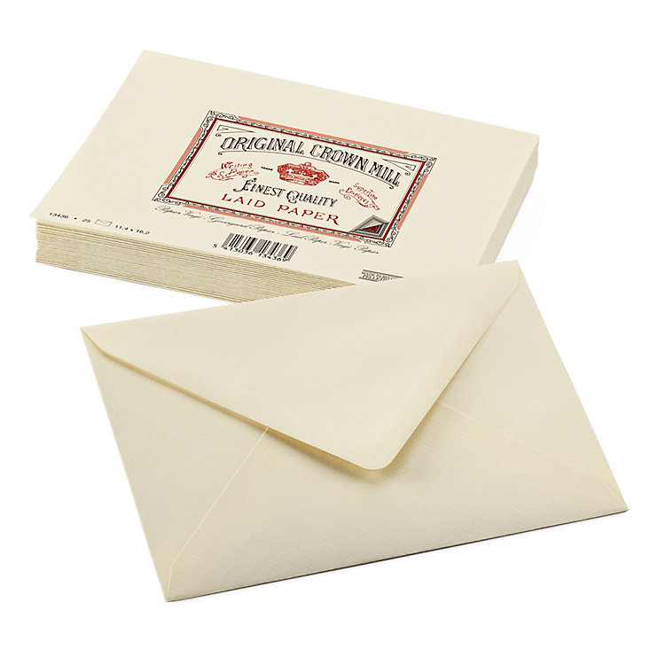 Correspondence Envelope, Crown Milll Vergé