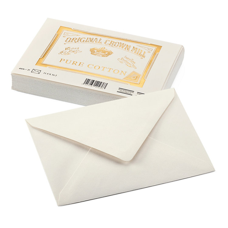 Correspondence Envelope Crown Mill Cotton