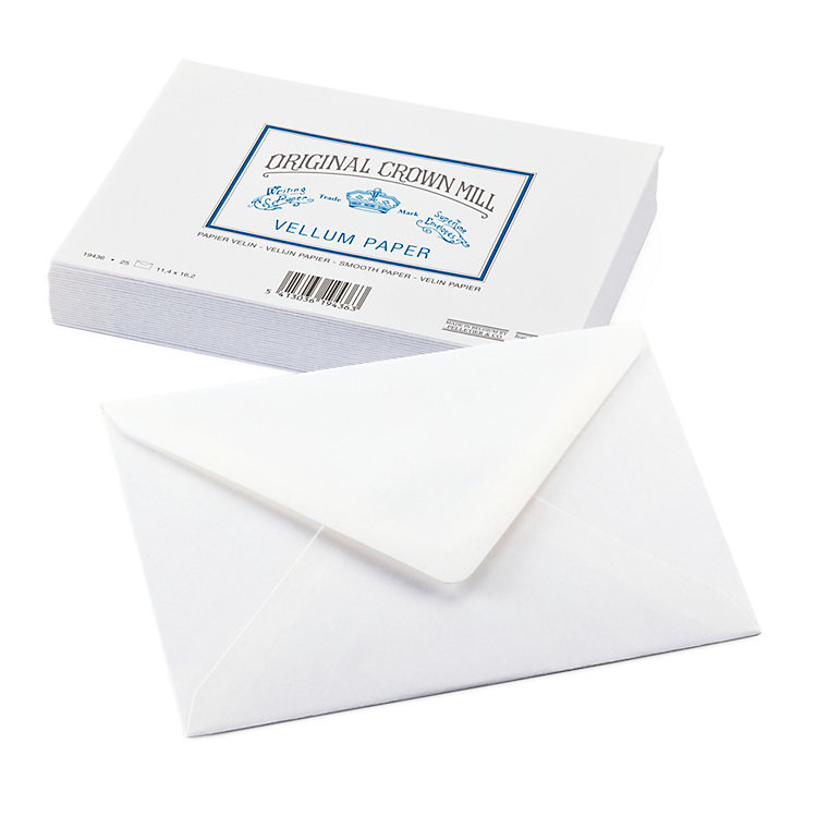 Correspondence Envelope, Crown Mill Velin