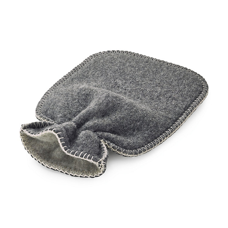 Cover for Hot-Water Bottle, Anthracite/Light Grey