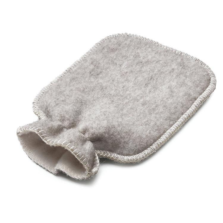 Cover for Hot-Water Bottle, Natural White/Light Grey