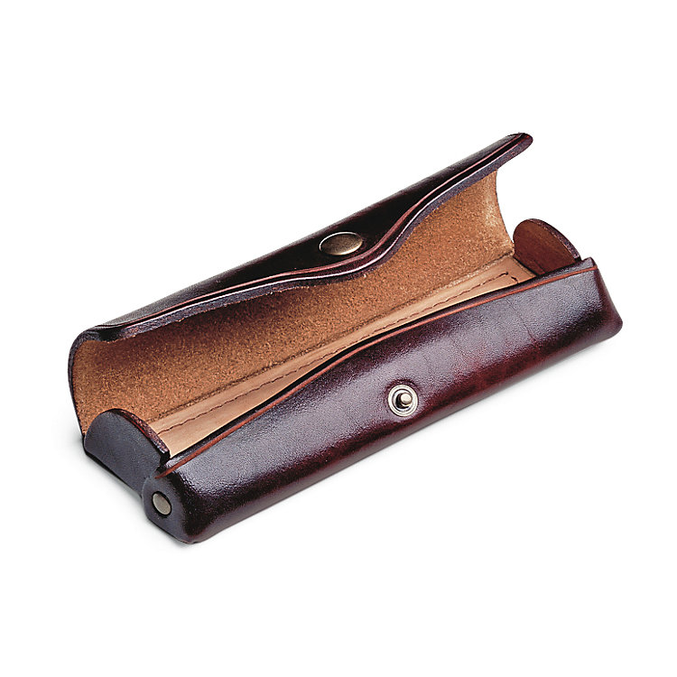 Cowhide Leather Glasses Case Small