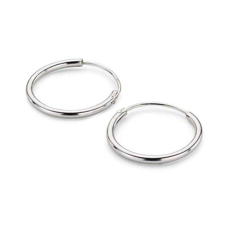 Creole Simple-Hoop, Silber