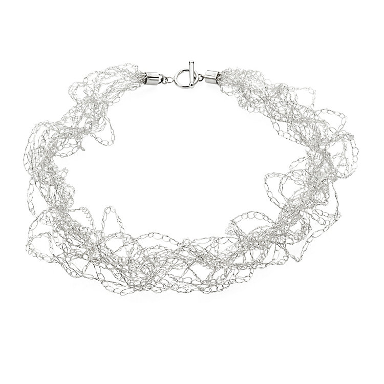 Crocheted Silver Necklace