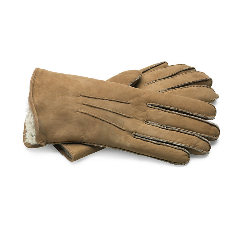 Curley Lambskin Gentlemen's Gloves Natural