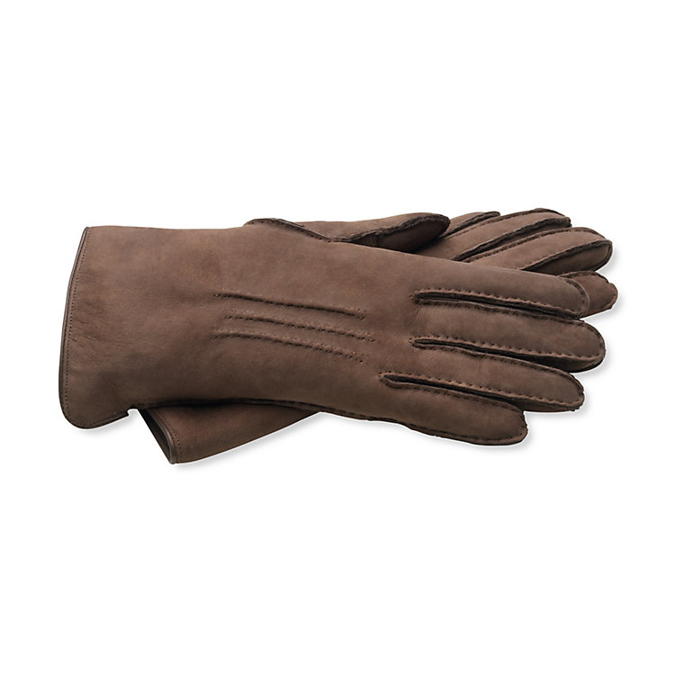 Curley Lambskin Women's Gloves, Dark brown