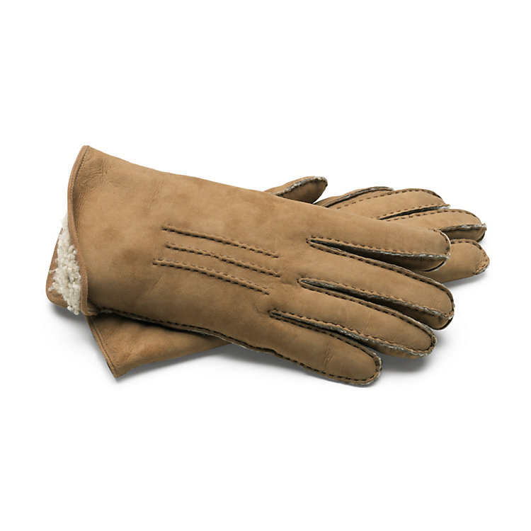Curley Lambskin Women's Gloves, Nature