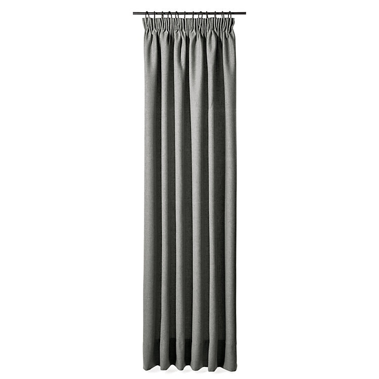 Curtain Made of Loden Cloth Height 225 cm Light Grey