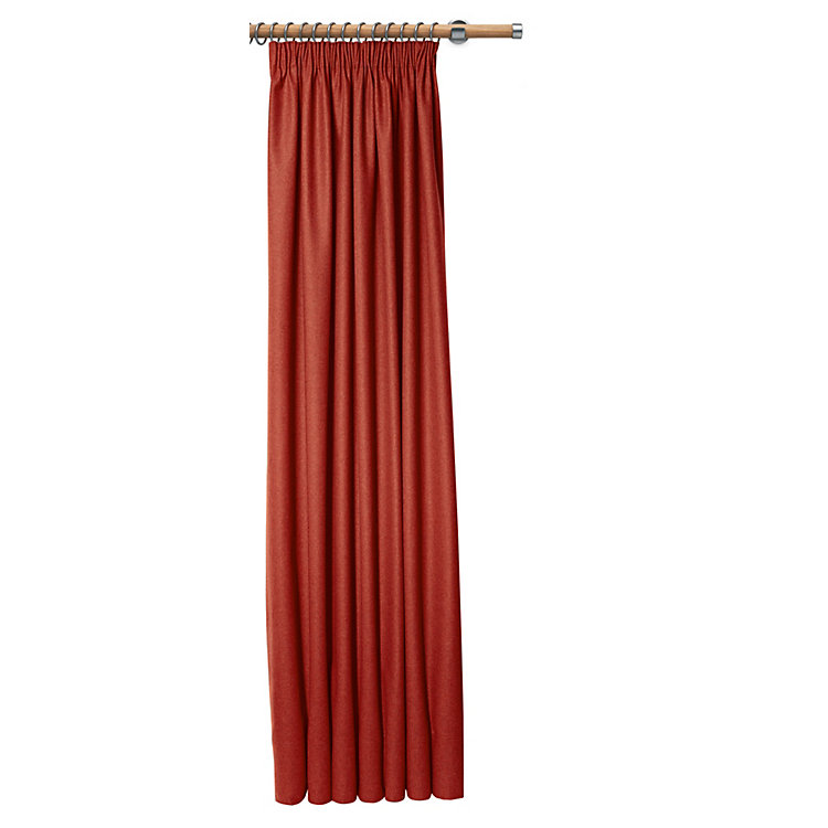 Curtain Made of Loden Cloth Height 225 cm Height 225 cm - Deep Red