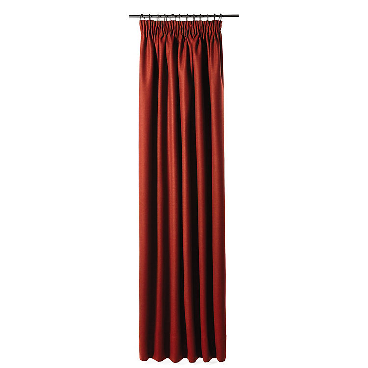 Curtain Made of Loden Cloth Height 250 cm Height 225 cm - Deep Red