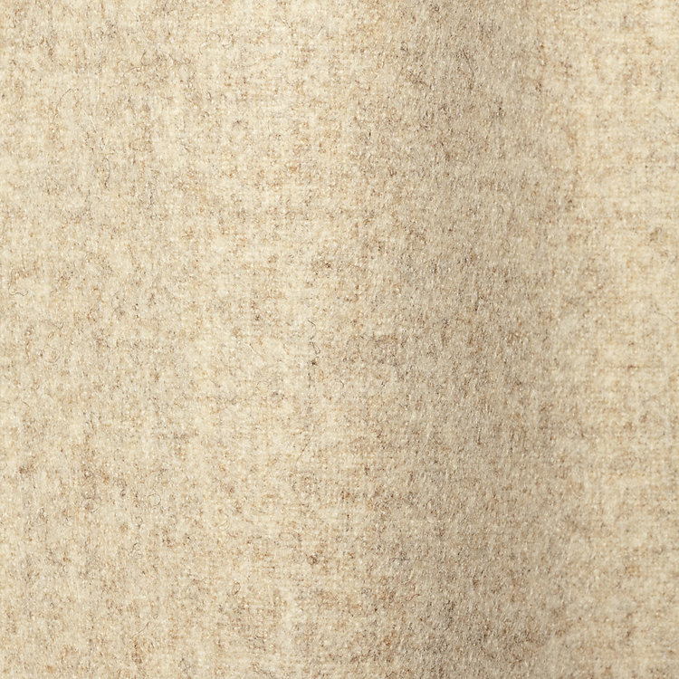Curtain Made of Loden Cloth Height 225 cm Height 225 cm - Light Beige