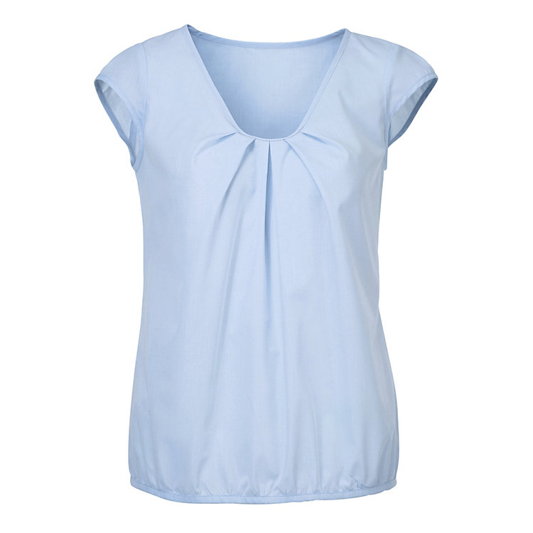 Damen-Blusen-Top Hellblau