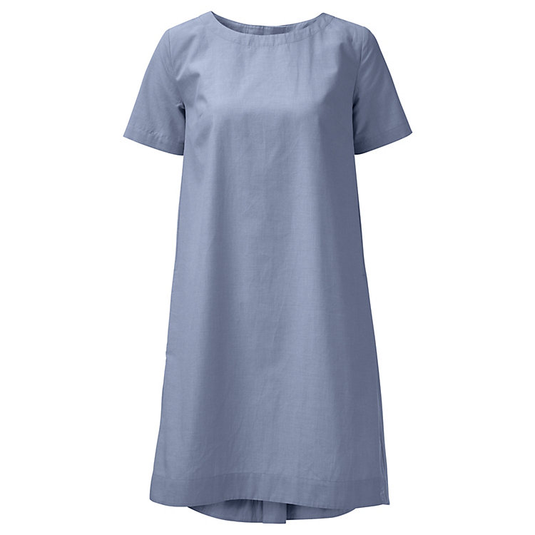 Damen-Chambray-Kleid, Hellblau
