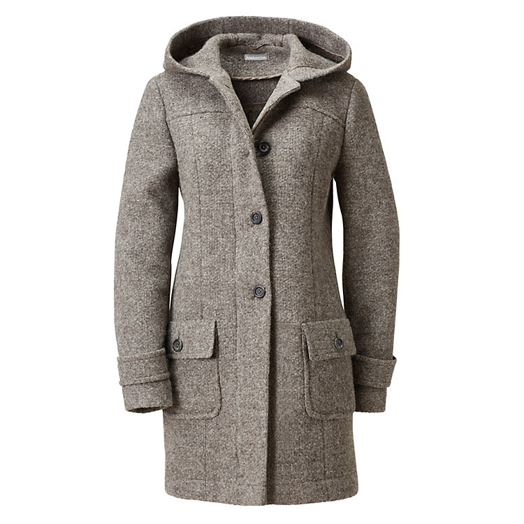 Damen-Kurzmantel British Wool Braungrau