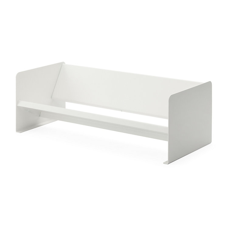 Desktop Bookcase Made of Sheet Steel White