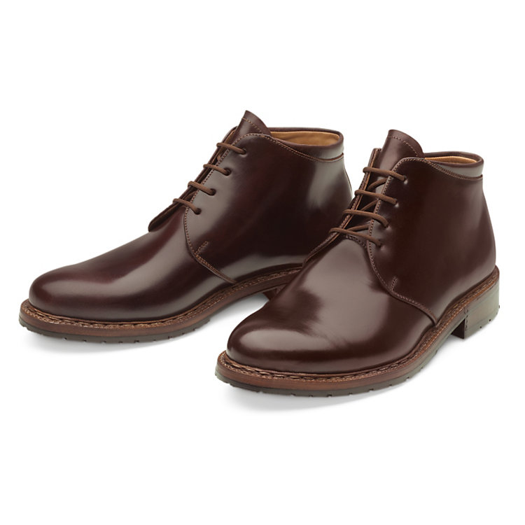 Dinkelacker Horse Leather Ankle Boots Ox-blood