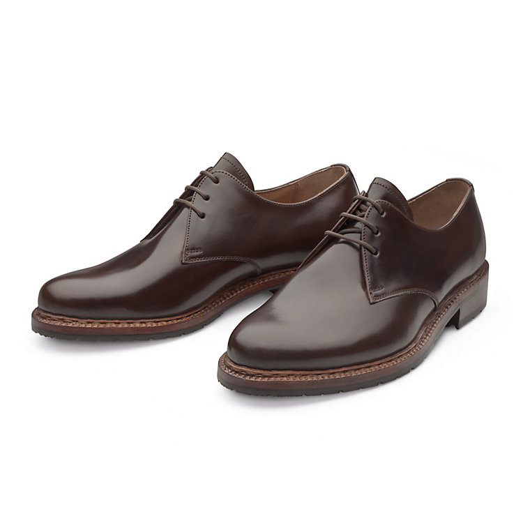 Dinkelacker Horse Leather Gentlemen's Shoe, Dark Brown