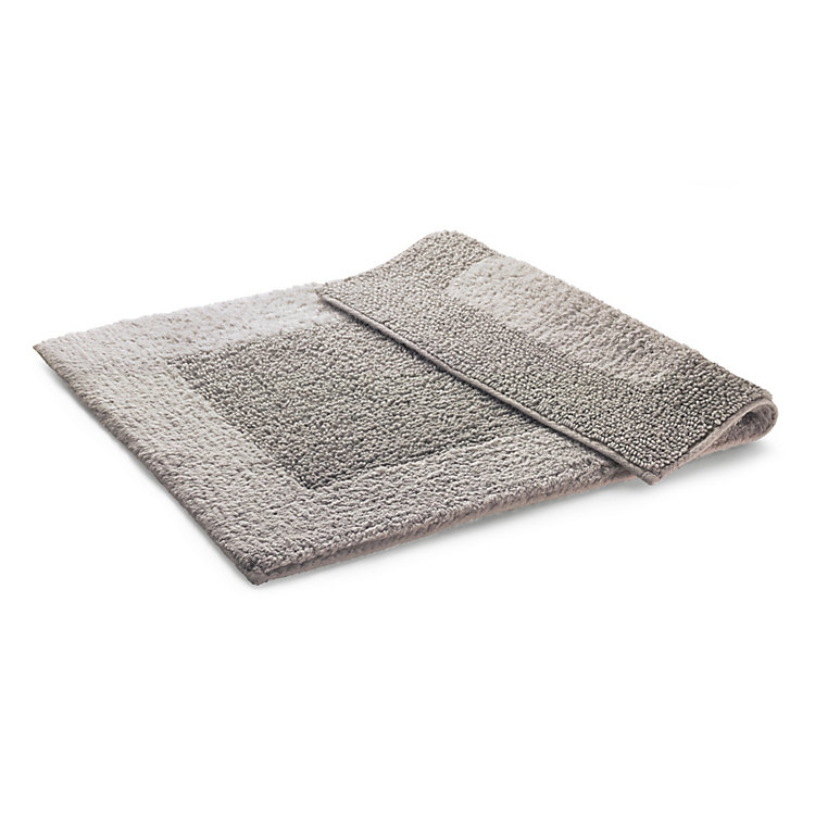 Double Pile Bathmat Light Gray 50 x 75 cm