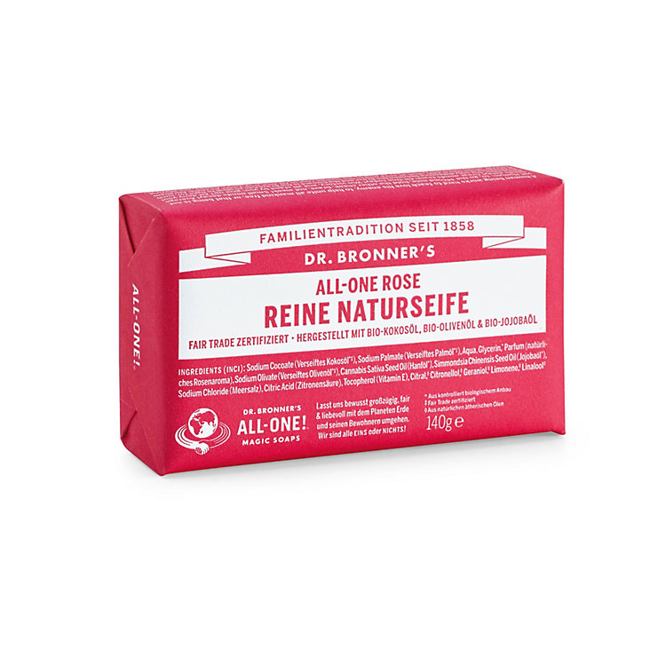 Dr. Bronner's Soap Bar, Rose