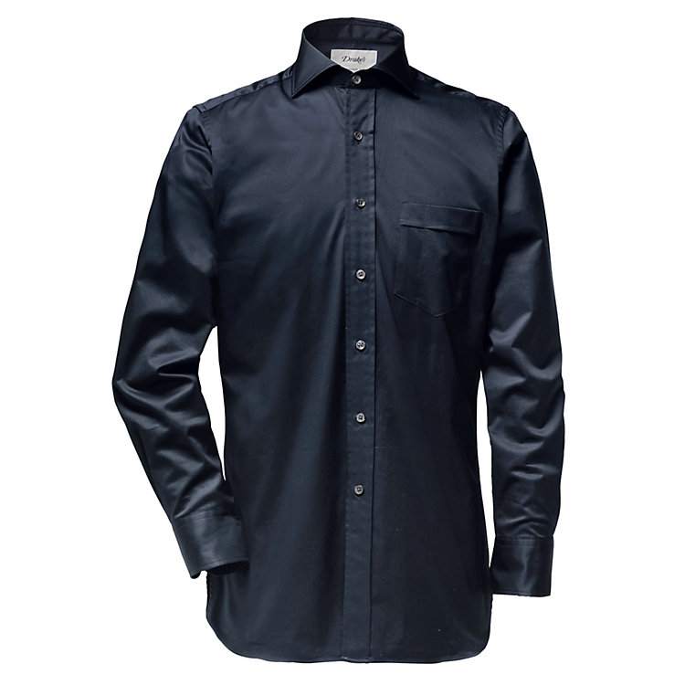 Drake's Feintwill men's shirt Dark Blue