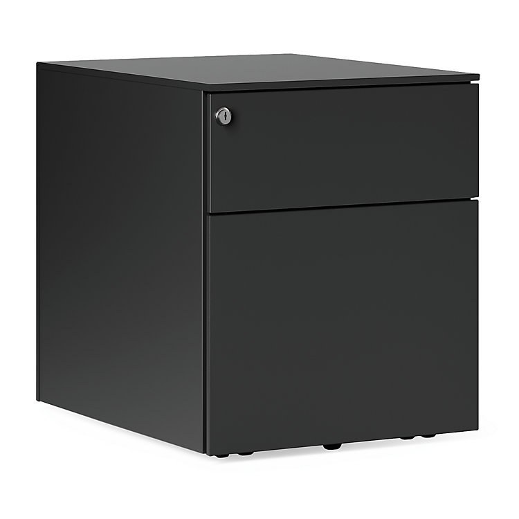 Drawers on Wheels Kubo, 2 drawers Black-Grey RAL 7021
