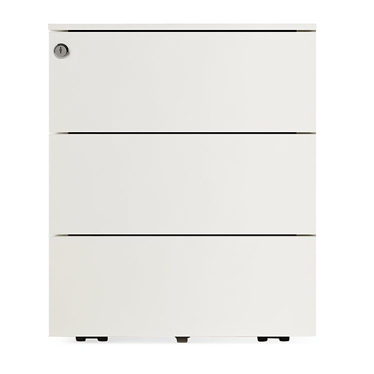 Drawers on Wheels Kubo, 3 drawers Pure White RAL 9010