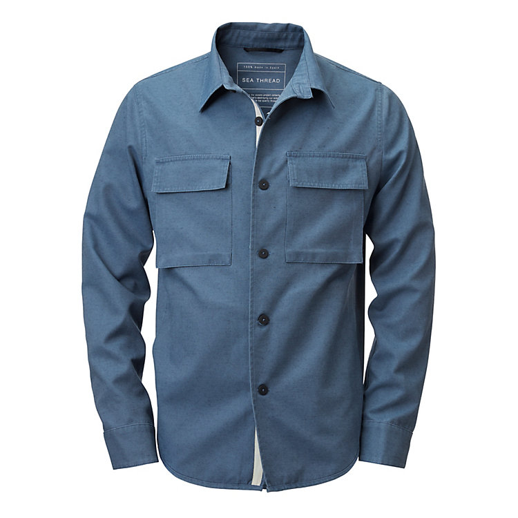 Ecoalf Men's Shirt Jacket Blue