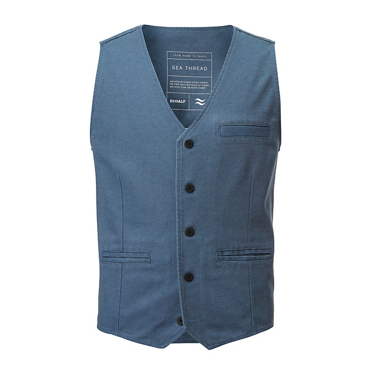Ecoalf Men's Vest, Blue