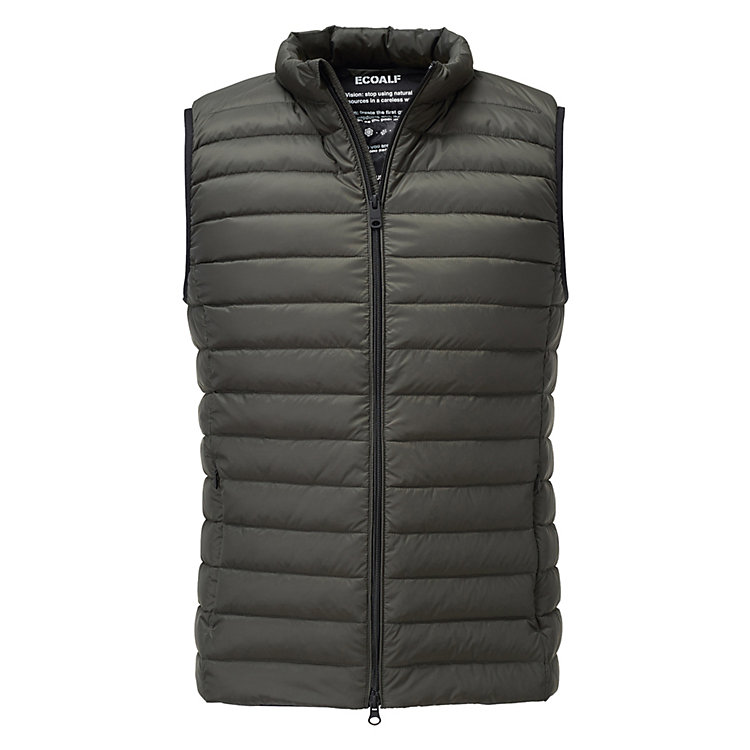 Ecoalf Men's Down Vest Khaki