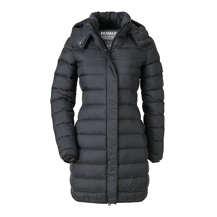 Ecoalf Women's Down Coat, Black