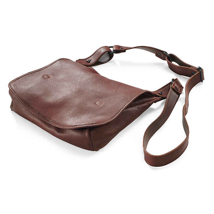 Elk Leather Haversack Bag, Brown