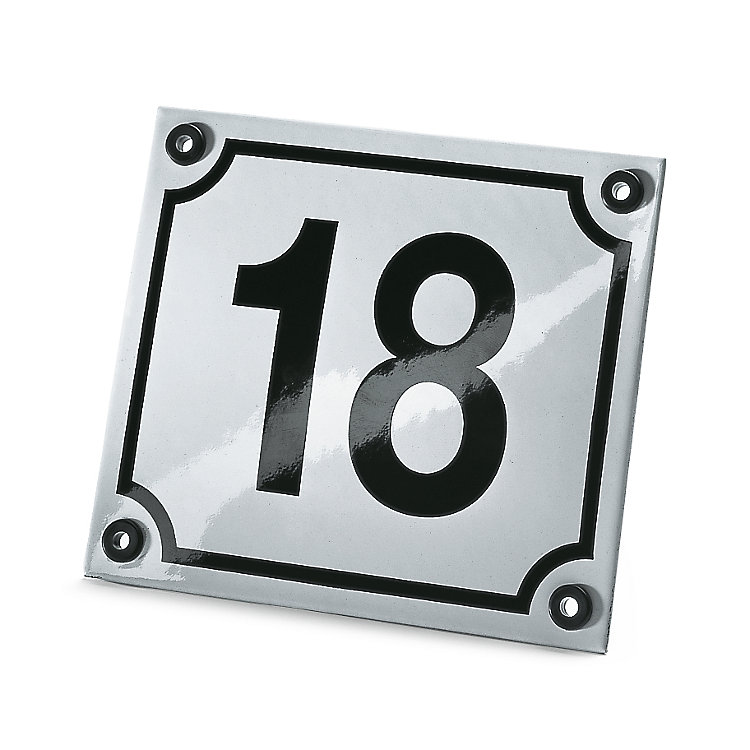 Enameled House Number