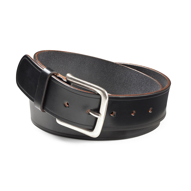 English Saddle Leather Belt by Kreis, Black