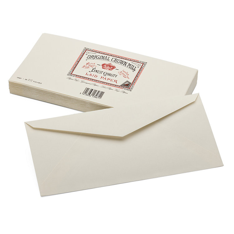 Envelope Long (25 Pieces), Crown Mill Vergé