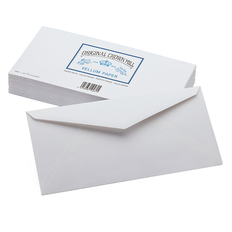 Envelope Long (25 Pieces), Crown Mill Velin