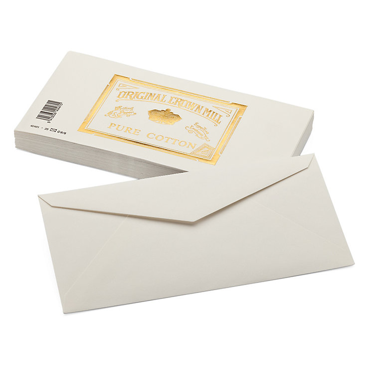 Envelope Long (25 Pieces), Crown Mill Cotton