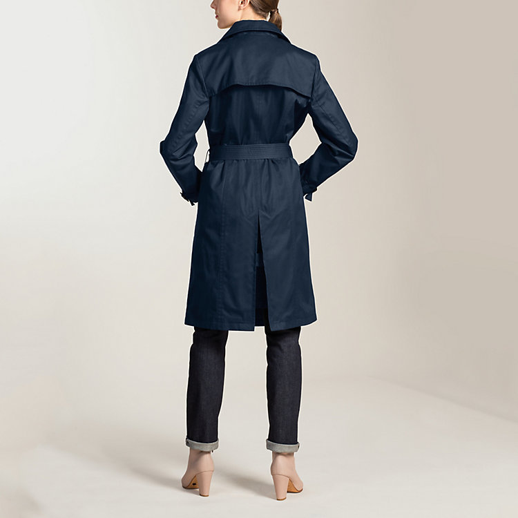 EtaProof® Women's Trench Coat, Dark Blue