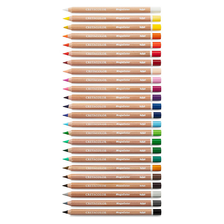 Extra Thick Colored Pencils by Cretacolor, Set of 24