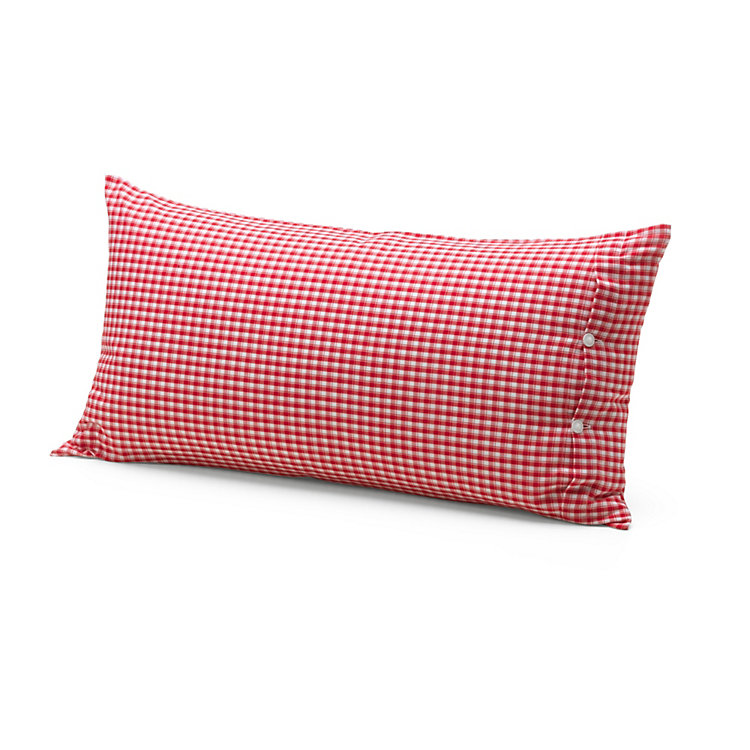 Farmer's Plaid Pillow Case 40 x 80 cm Red/White