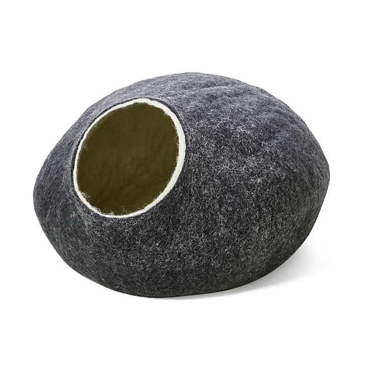 Felted Cat Cave Grey