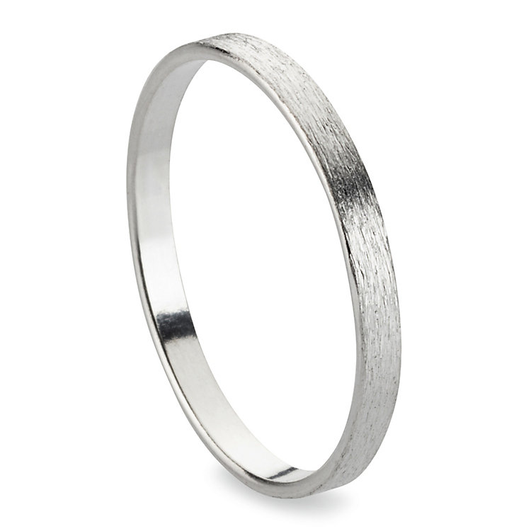 Fingerring Satin-Band, Silber