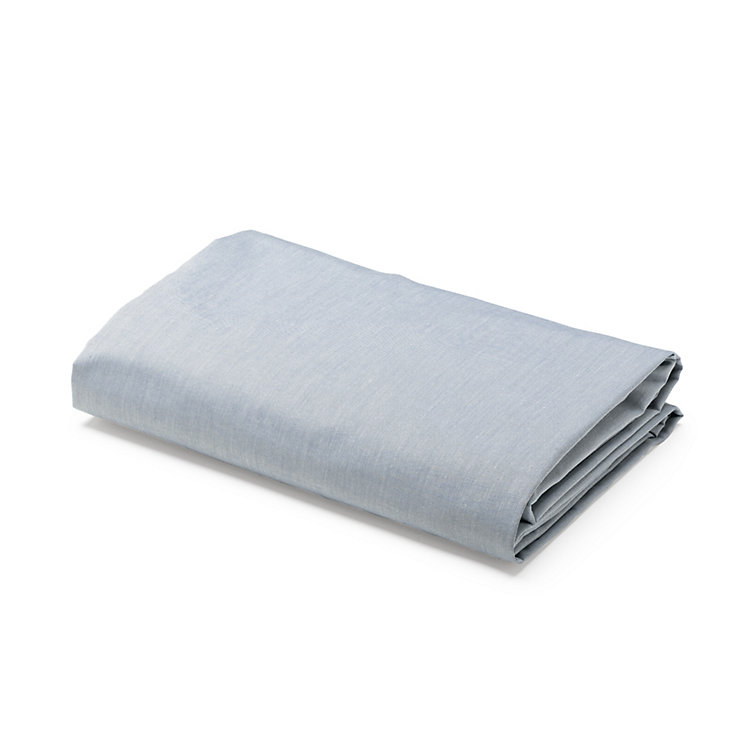 Fitted Sheet Made of Cotton Blue 90 × 200 × 15 cm