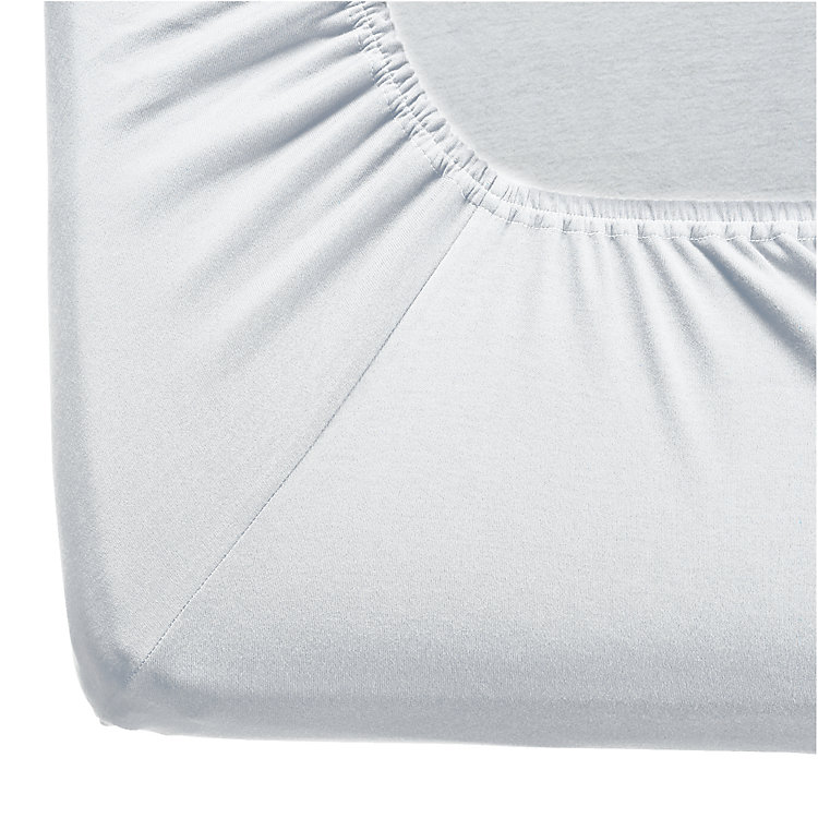 Fitted Sheets Made of Double Jersey White 180-200 x 200 cm - White