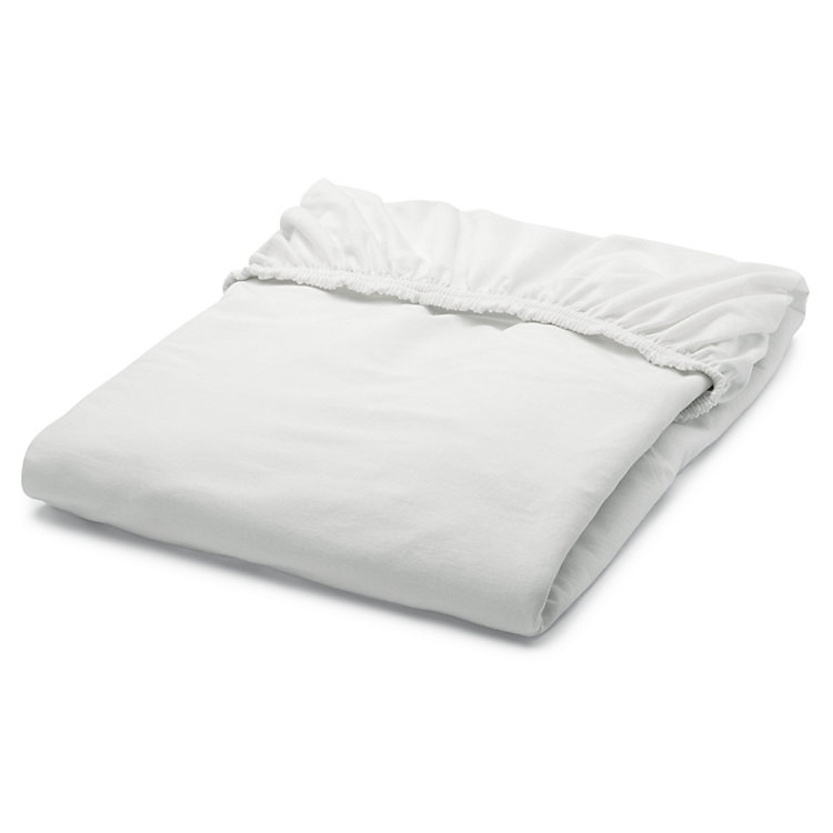Fitted Sheets Made of Jersey White 140 × 200 cm